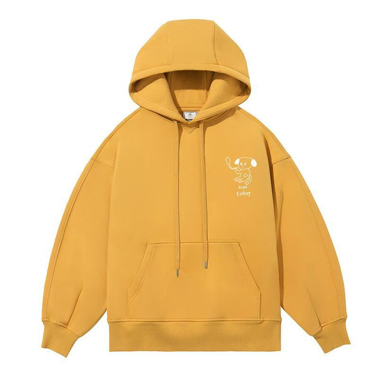 PROD Bldg Last Chance - Final Sale L / Yellow Not Today - Dog Fleece Hoodie