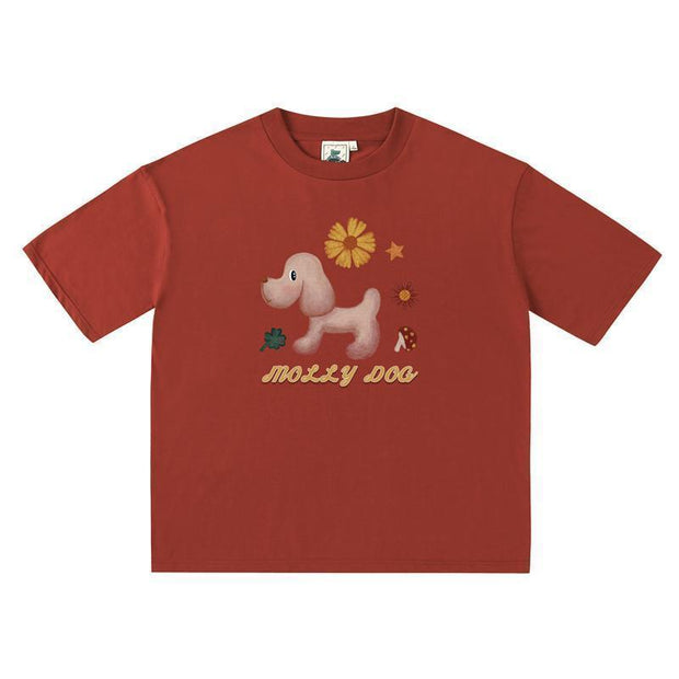 PROD Bldg Last Chance - Final Sale M / Red Mother Goose Oversized T-Shirt