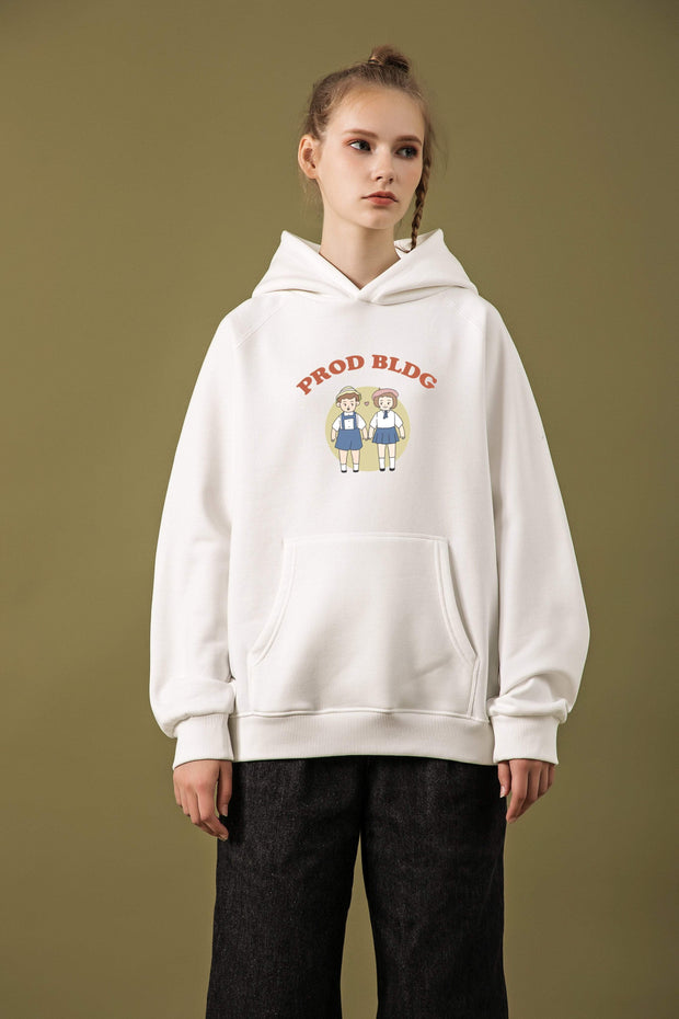 PROD Bldg Last Chance - Final Sale M / White Puppy Love Classic Hoodie