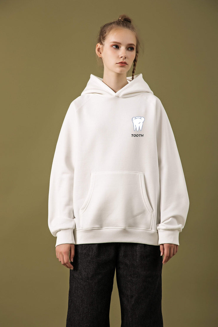 PROD Bldg Last Chance - Final Sale M / White Tooth Classic Hoodie