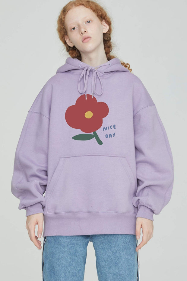 PROD Bldg Last Chance - Final Sale Nice Day - Flower Fleece Hoodie