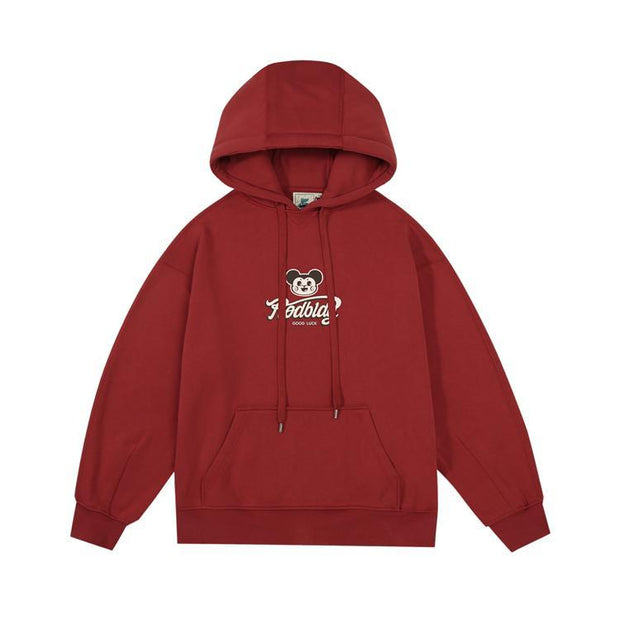 PROD Bldg Last Chance - Final Sale S / Brick Red Good Luck Mouse Fleece Hoodie