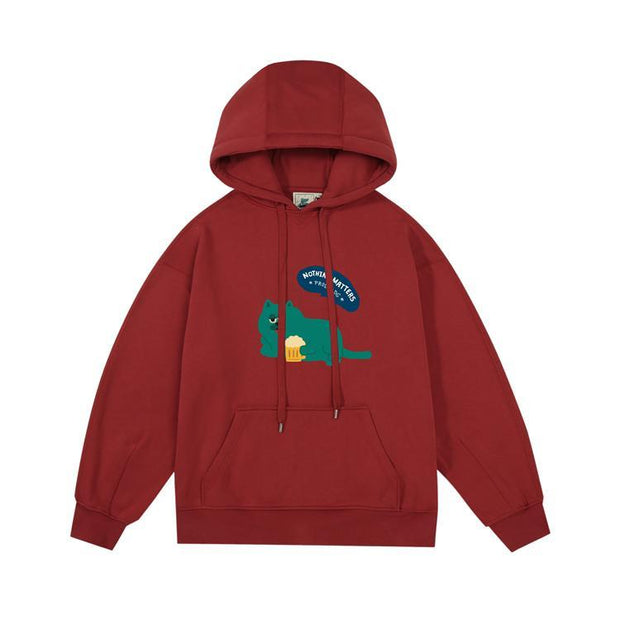 PROD Bldg Last Chance - Final Sale S / Brick Red Nothing Matters Fleece Hoodie