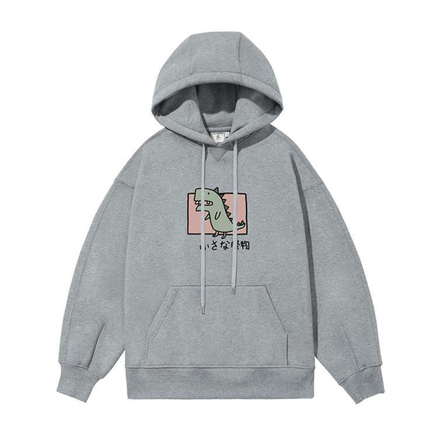 PROD Bldg Last Chance - Final Sale S / Gray Rawr - Dinosaur Fleece Hoodie