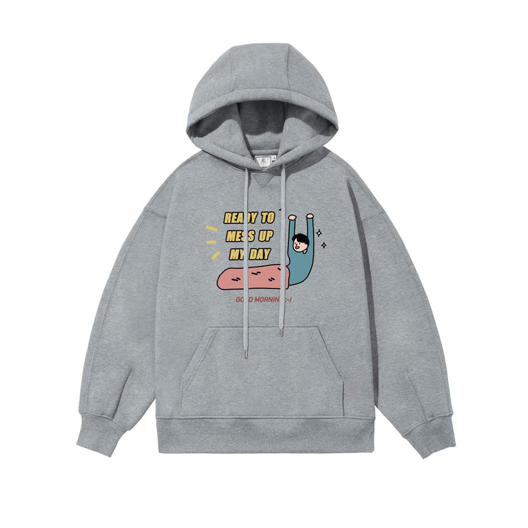 PROD Bldg Last Chance - Final Sale S / Gray Ready to Mess Up My Day Fleece Hoodie