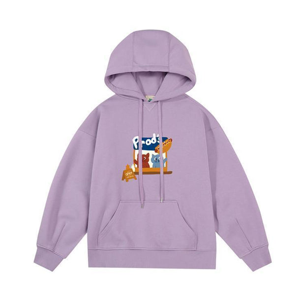 PROD Bldg Last Chance - Final Sale S / Lilac Hotdog Stand Fleece Hoodie