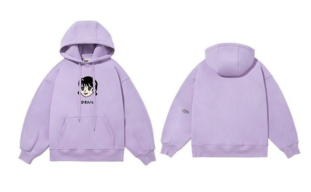 PROD Bldg Last Chance - Final Sale S / Lilac Kawaii - Girl Fleece Hoodie