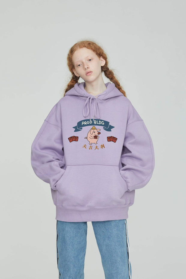 PROD Bldg Last Chance - Final Sale S / Lilac PROD Lucky Pig Fleece Hoodie