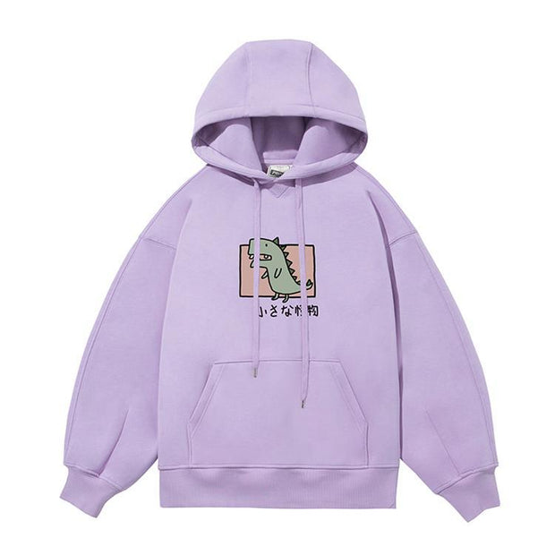 PROD Bldg Last Chance - Final Sale S / Lilac Rawr - Dinosaur Fleece Hoodie