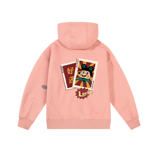PROD Bldg Last Chance - Final Sale S / Pink Lucky Joker Fleece Hoodie
