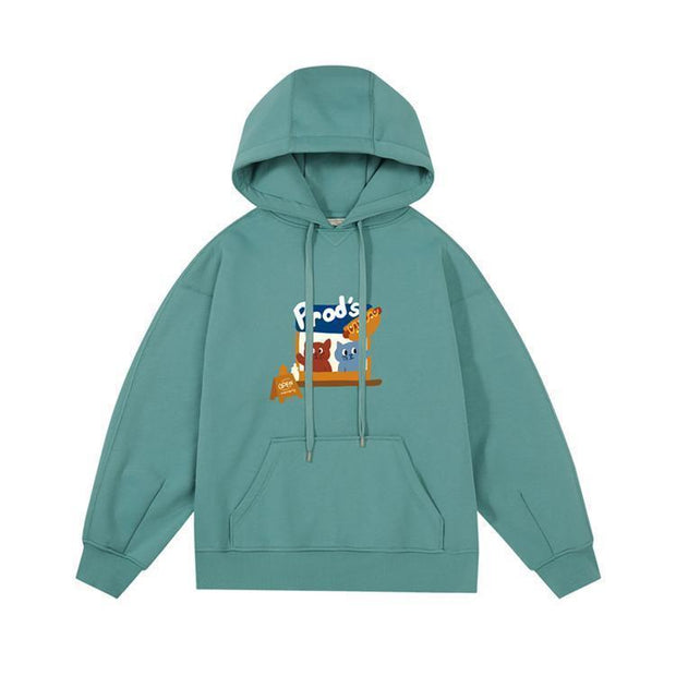 PROD Bldg Last Chance - Final Sale S / Teal Hotdog Stand Fleece Hoodie