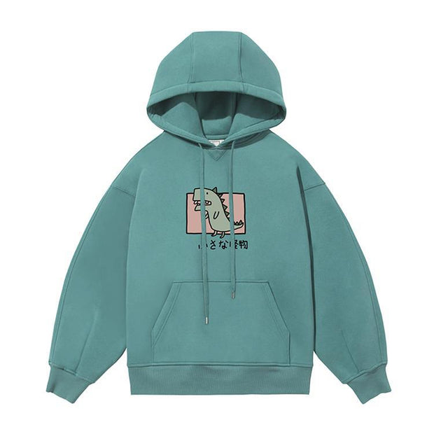 PROD Bldg Last Chance - Final Sale S / Teal Rawr - Dinosaur Fleece Hoodie