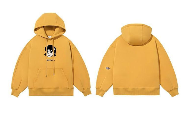 PROD Bldg Last Chance - Final Sale S / Yellow Kawaii - Girl Fleece Hoodie