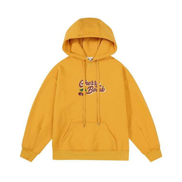 PROD Bldg Last Chance - Final Sale XL / Yellow Cherry Bomb Fleece Hoodie