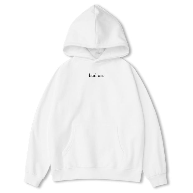 PROD Bldg Last Chance - Final Sale XS / White Bad Ass Classic Hoodie