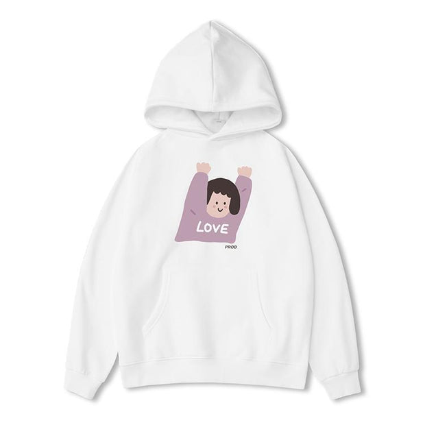 PROD Bldg Last Chance - Final Sale XS / White Hands Up - Girl Classic Hoodie