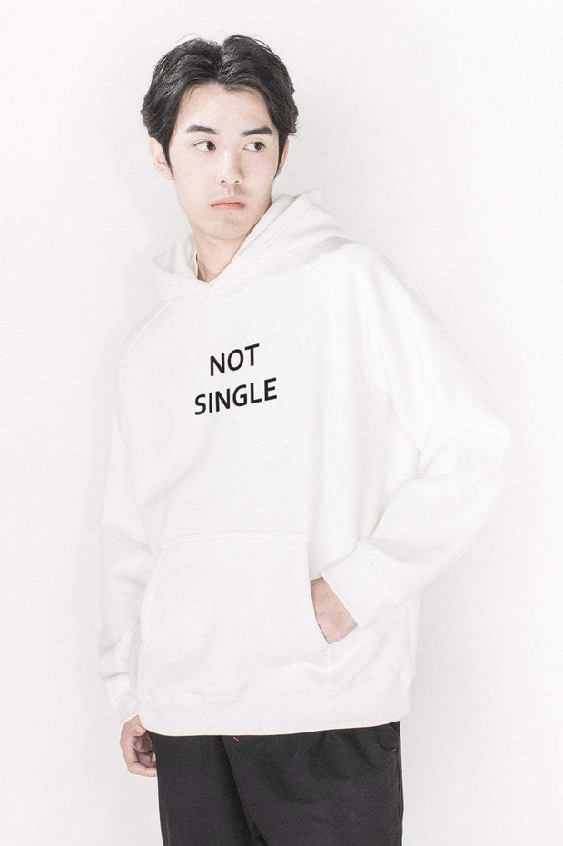 PROD Bldg Last Chance - Final Sale XS / White Not Single Classic Hoodie