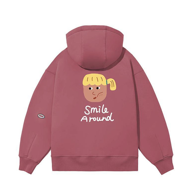 PROD Bldg Last Chance - Final Sale XXL / Plum Smile Around - Girl Fleece Hoodie