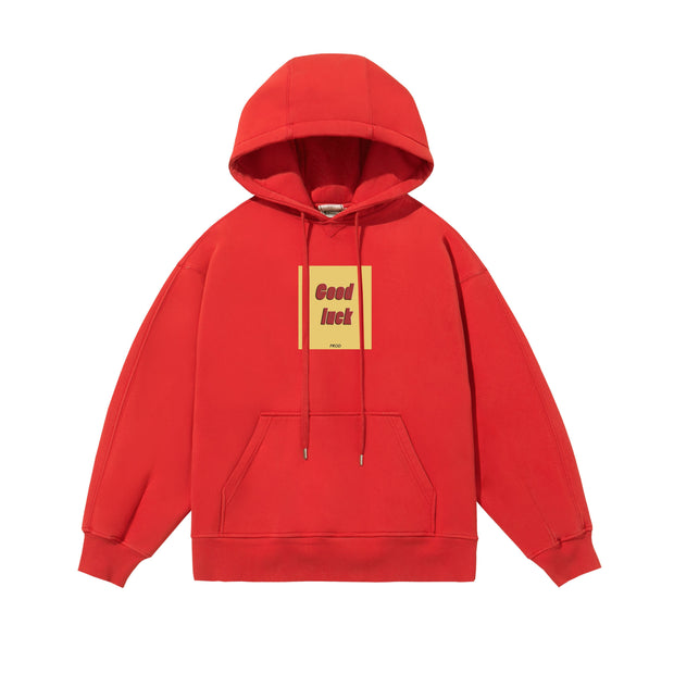 PROD Bldg Last Chance - Final Sale XXL / Red Good Luck Fleece Hoodie (Clearance)