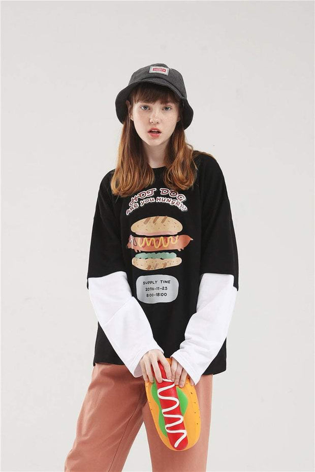 PROD Bldg Layered Long Sleeve Hot Diggity Dog Layered Long Sleeves