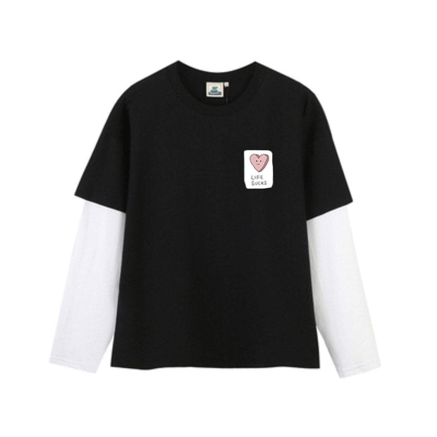 PROD Bldg Layered Long Sleeve S / Black White Life Sucks Layered Long Sleeves