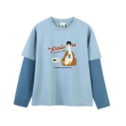 PROD Bldg Layered Long Sleeve S / Light Blue Dark Blue Pasture Layered Long Sleeves