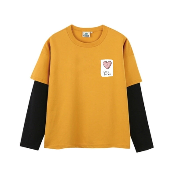 Life Sucks Layered Long Sleeves