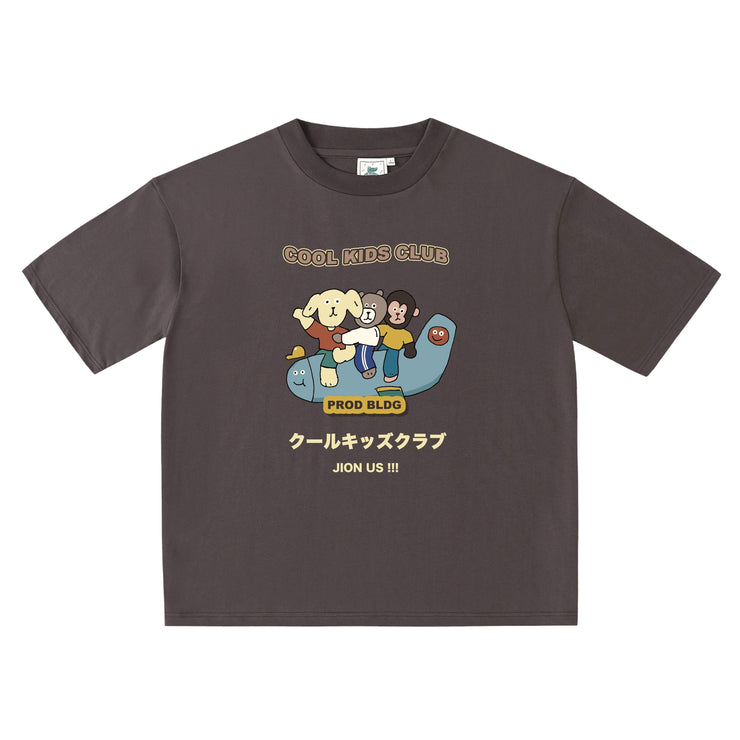PROD Bldg Oversized T-Shirt S / Charcoal Cool Kids Club - Plane Oversized T-Shirt