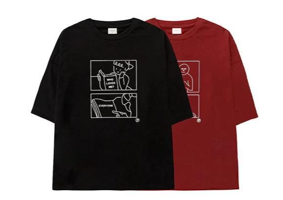 PROD Bldg Oversized T-Shirt S / Red Who Loves Me? Everyone Oversized T-Shirt