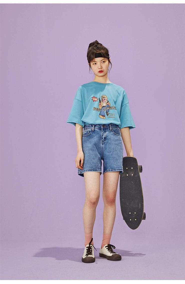 PROD Bldg Oversized T-Shirt West Cowgirl  Oversized T-Shirt