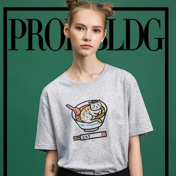 PROD Bldg T Shirt Ramen Cat