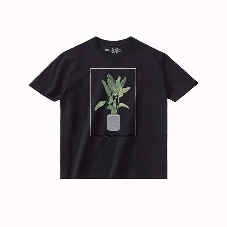 PROD Bldg T Shirt XS / Black Green Plant