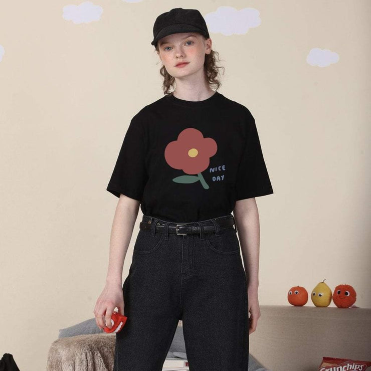 PROD Bldg T Shirt XS / Black Nice Day (Flower)