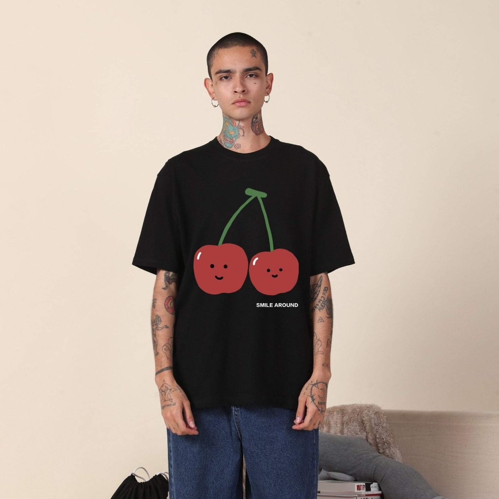 PROD Bldg T Shirt XS / Black Smile Around (Cherry)