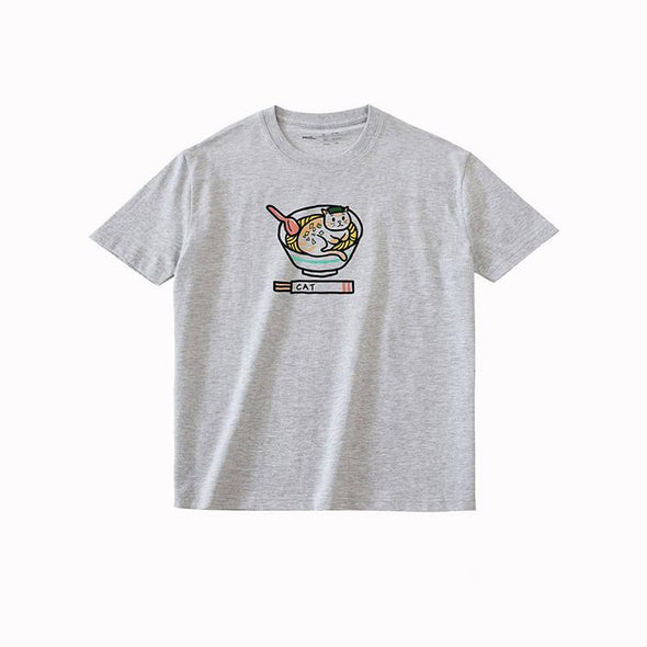 PROD Bldg T Shirt XS / Gray Ramen Cat