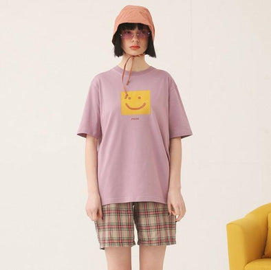 PROD Bldg T Shirt XS / Mauve Smile Now