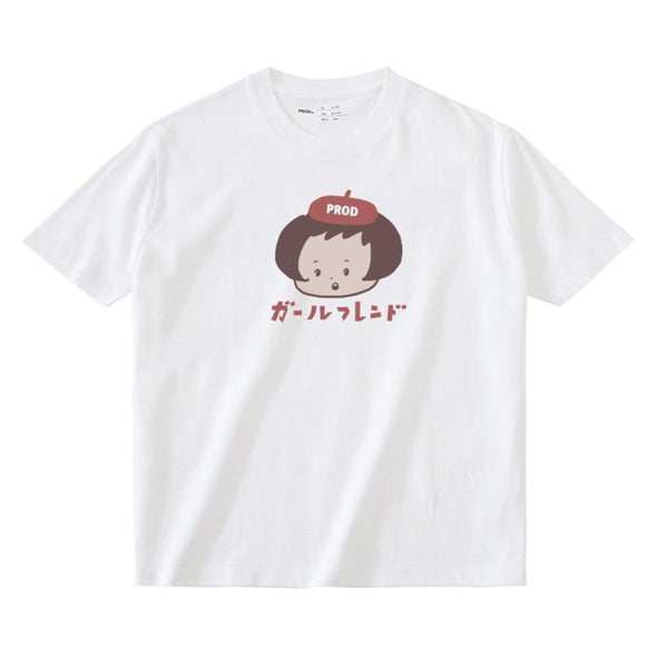 PROD Bldg T Shirt XS / White Beret Girl
