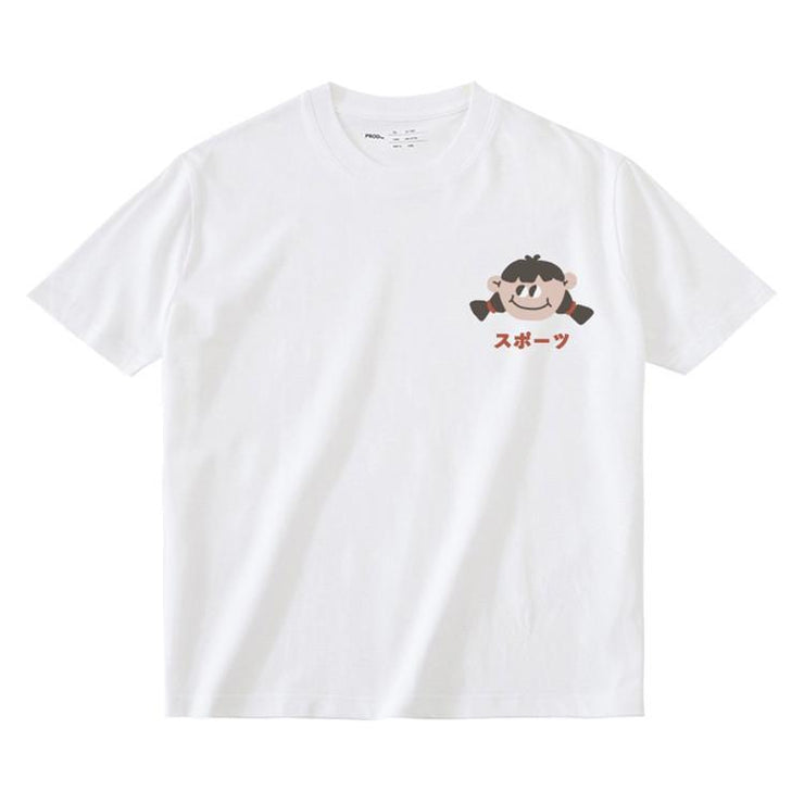 PROD Bldg T Shirt XS / White Big Eyed Girl