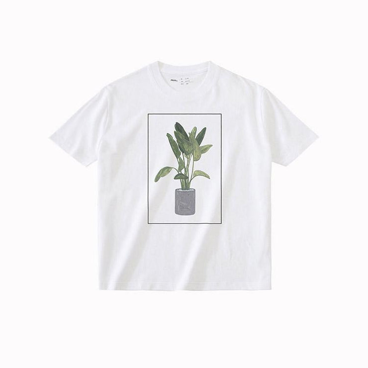 PROD Bldg T Shirt XS / White Green Plant
