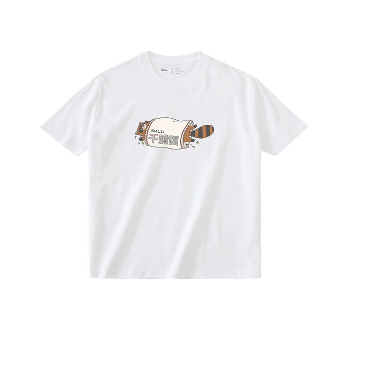 PROD Bldg T Shirt XS / White Raccoon Noodle