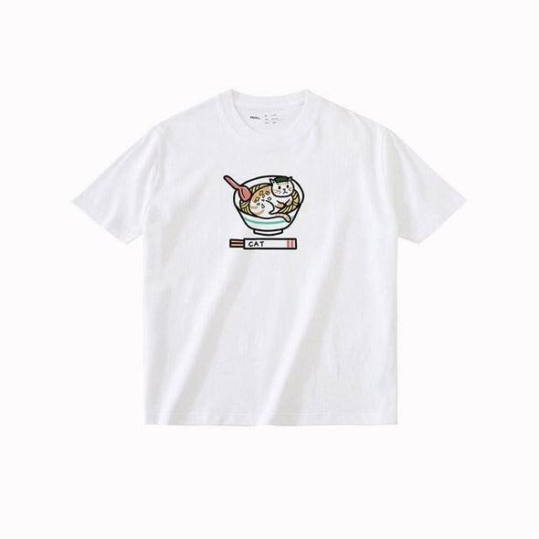PROD Bldg T Shirt XS / White Ramen Cat