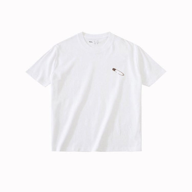 PROD Bldg T Shirt XS / White Safety Pin