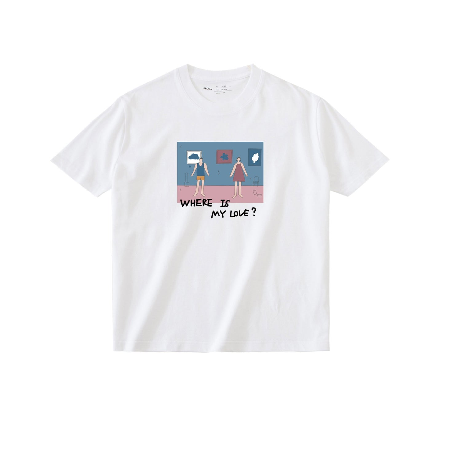 PROD Bldg T Shirt XS / White Where is Love?