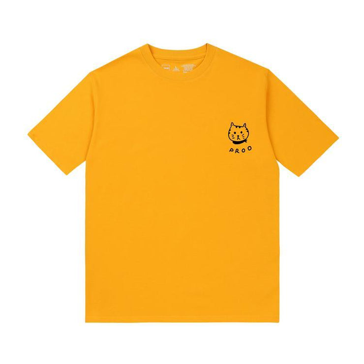 PROD Bldg T Shirt XS / Yellow PROD Cat (Face)