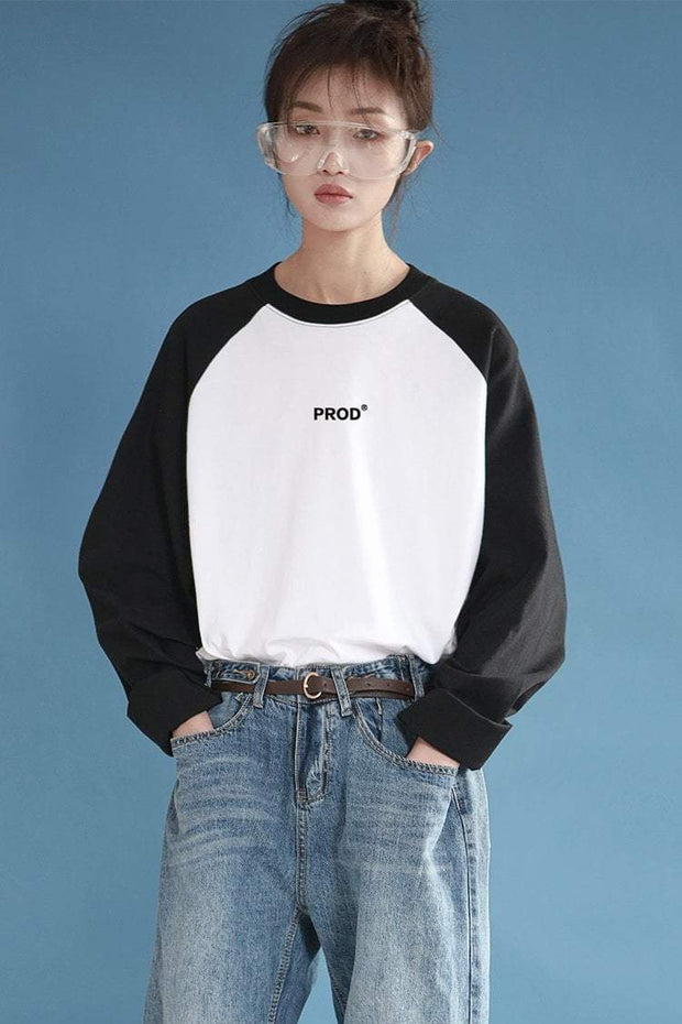 PROD Bldg Varsity Long Sleeve 0 / White Black PROD Varsity Long Sleeves
