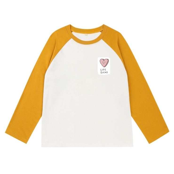 PROD Bldg Varsity Long Sleeve 0 / White Yellow Life Sucks Varsity Long Sleeve