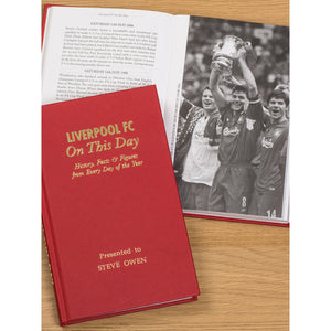 Personalised Liverpool Football Club FC On This Day Book
