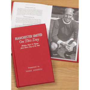 Personalised Manchester United Football Club FC On This Day Book