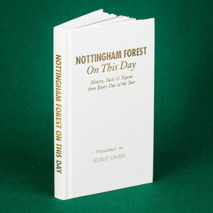 Personalised Nottingham Forest Football Club FC On This Day Book