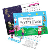 Children Personalised A3 Months of the Year Activity Book